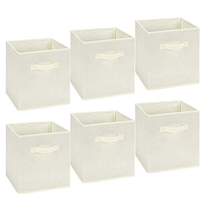 Epsky Foldable Storage Cubes Storage Bins Foldable Cloth Container Baskets Cubes Box Collapsible Cube Storage Bins Closet Organizer With Drawers Cube Storage
