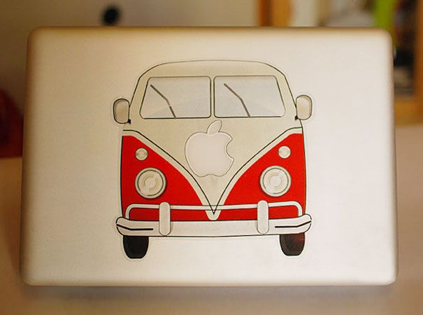 MacBook sticker for all those hippies who still love the already iconic VW Camper Van