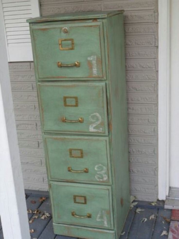 Love this altered metal file cabinet. Inspiration only.