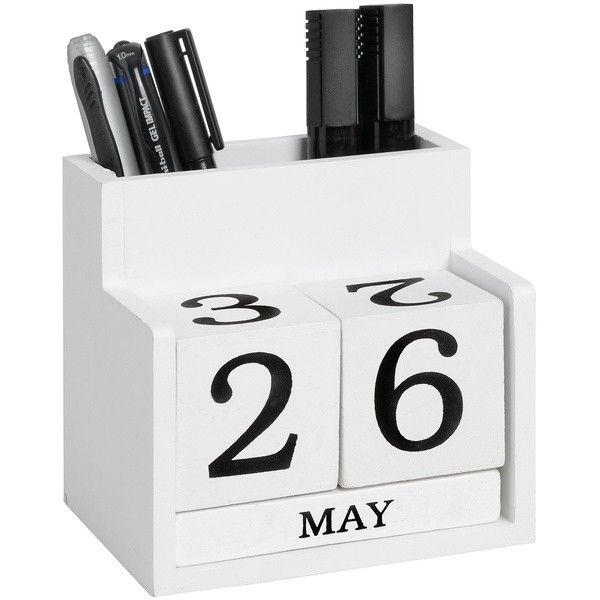 Keep yourself organised in the #NewYear with a Desk #Calendar. Functional and stylish. http://www.bigliving.co.uk/home-furnishings/home-accessories/desk-perpetual-calenders/desk-calendar-tidy-set.html