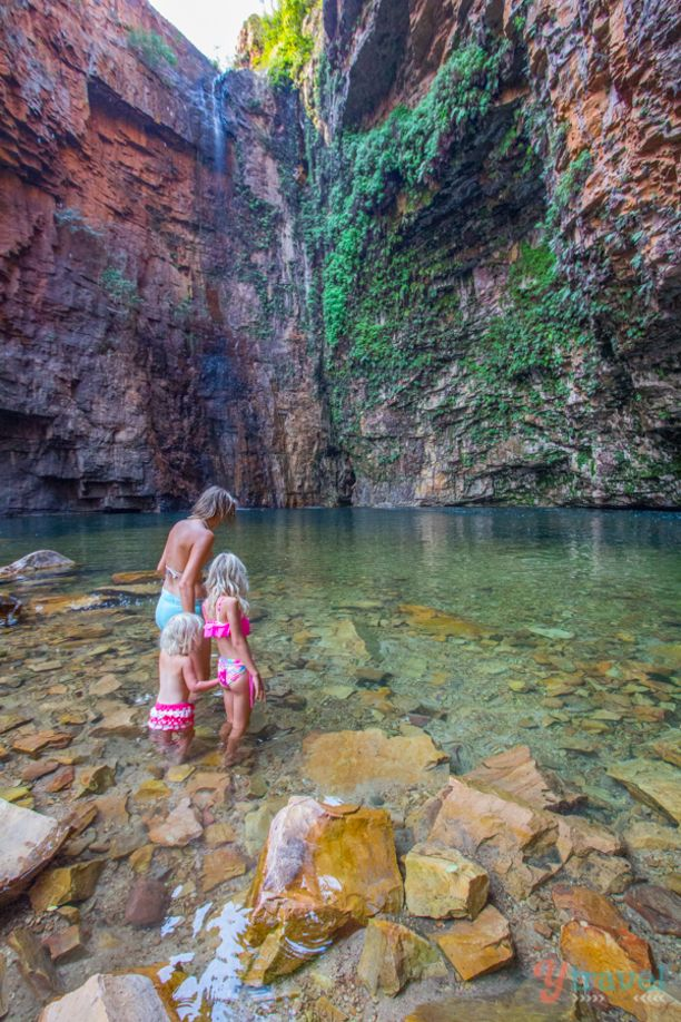 Emmas Gorge at El Questro Homestead along the Gibb River Road in the Kimberley region of Western Australia is a must visit for a swim in...