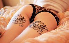 Sensualidade sem vulgaridade: tatuagens femininas nas laterais e posteriores da coxa
