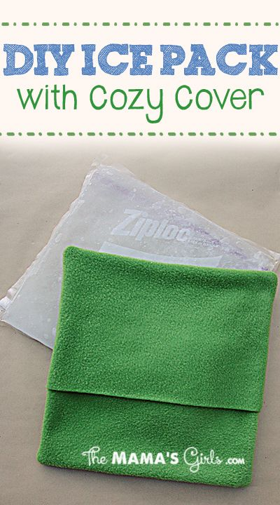 DIY Ice Pack - for soreness and injuries! Amazing! (I like the little slipcover!)