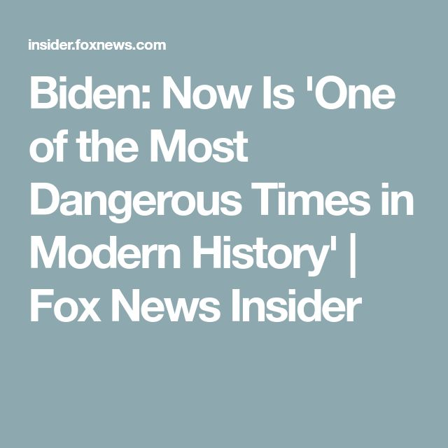 THANKS TO PEOPLE LIKE OBAMA, CLINTON, BIDEN AND MERKEL!!!THEY ALL MADE IT MORE DANGEROUS!!! Biden: Now Is 'One of the Most Dangerous Times in Modern History' | Fox News Insider