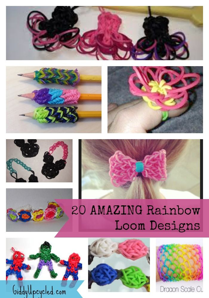 20 Amazing Rainbow Loom Designs