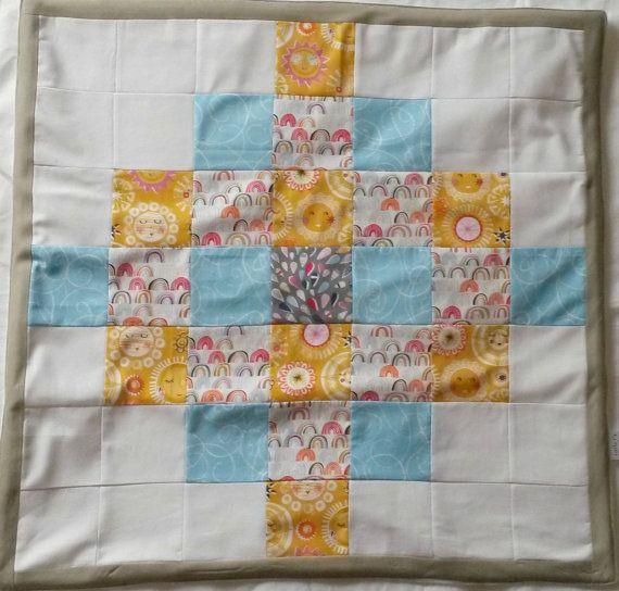 Baby Blanket Patchwork Blanket Sunny Blanket by LittleTsTextiles