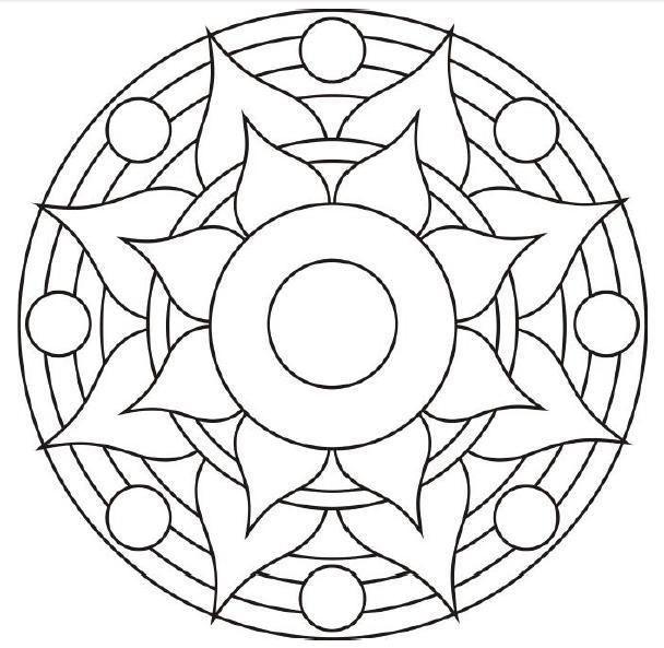 Resultat De L 39 Image Pour Les Mandalas Faciles A Faire Technique De Pointillisme Mandala Malvorlagen Mandala Ausmalen Ausmalbilder Mandala