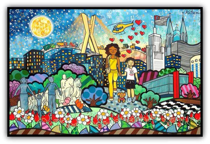 Arte em tela com sua família , amigos , cachorros e o que você imaginar e sonhar .   Quadros personalizados Andreza Katsani , Sua História em Arte .