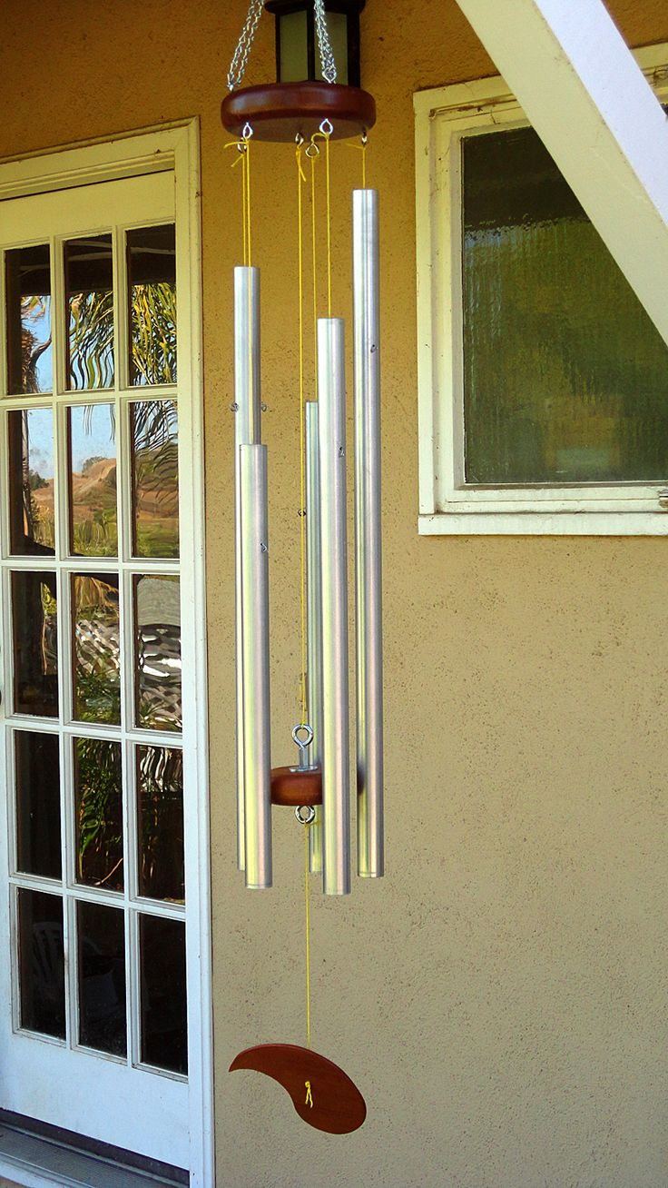 DIY windchimes made from steel conduit. These sound really good!