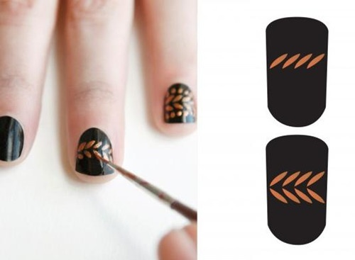 DIY: copper leaf tips.