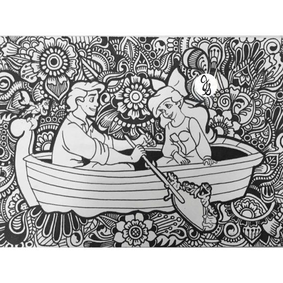 The Little Mermaid Design By Byjamierose On Etsy Coloring Sheets Rhpinterest: Coloring Pages For Adults Little Mermaid At Baymontmadison.com