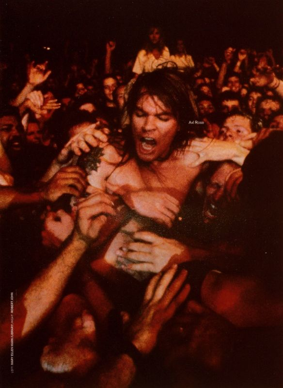 Axl Rose of Guns N' Roses, early '90s