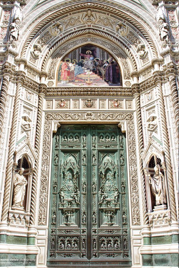 Florence Cathedral, Italy.....Do you think I'd be too much to have installed on a house? I would love to make a grand entrance through it every day :)