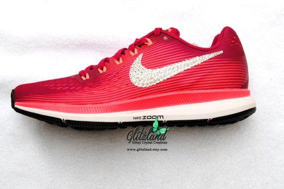 Swarovski Sport Fuchsia   Pink Nike Air Zoom Pegasus 34 Blinged with  SWAROVSKI® Crystals  SwarovskiNikeAir  BlingedPegasus  BrideShoes   PinkNikeAirZoom ... 421152df85