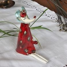 Autorská keramika, Myš s dlhými nohami, výška 14 cm, 10 €