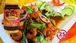 Surinaams eten – Chinese ketjap knoflook garnalen met paksoi en rijst