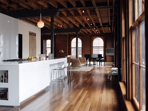 Best Showroom Design Images On Pinterest Showroom Design - Contemporary soho loft with exposed brick and wood beams