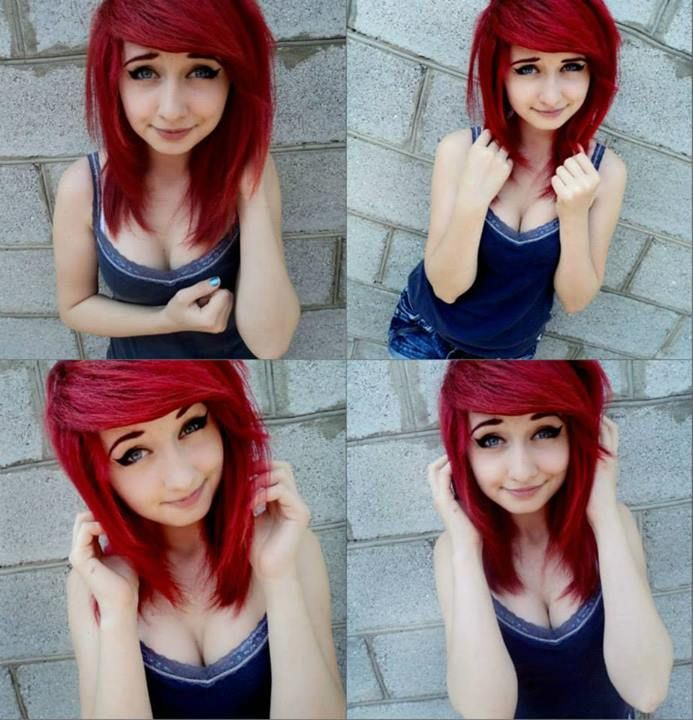 I'm going to get a hair cut tomorrow and my hair Is too short to get it done like I wanted to :[ but I guess I'll do this :D