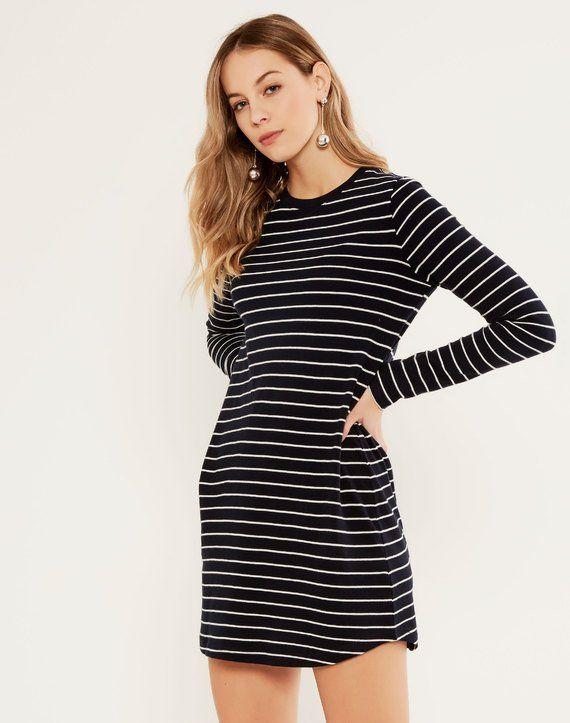 Striped Long Sleeve Dress Stripe