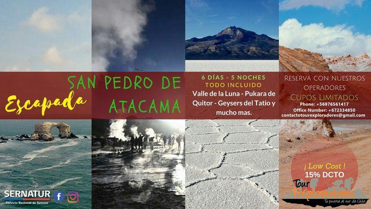 """EL Desierto de Atacama es el lugar más árido del planeta, tiene la reputación de ser el """"lugar más seco del mundo"""" ¿Y tú, vas con nosotros? +info: contactotourexploradores@gmail.com  Phone: +56976561417 / +672334850"""