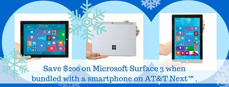 Update Your Tech! Save $200 on the Microsoft Surface 3 Tablet at AT&T #AttSeattle ad
