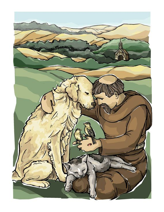 St. Francis of Assisi Art Print 8 x 10 by ModHMary on Etsy