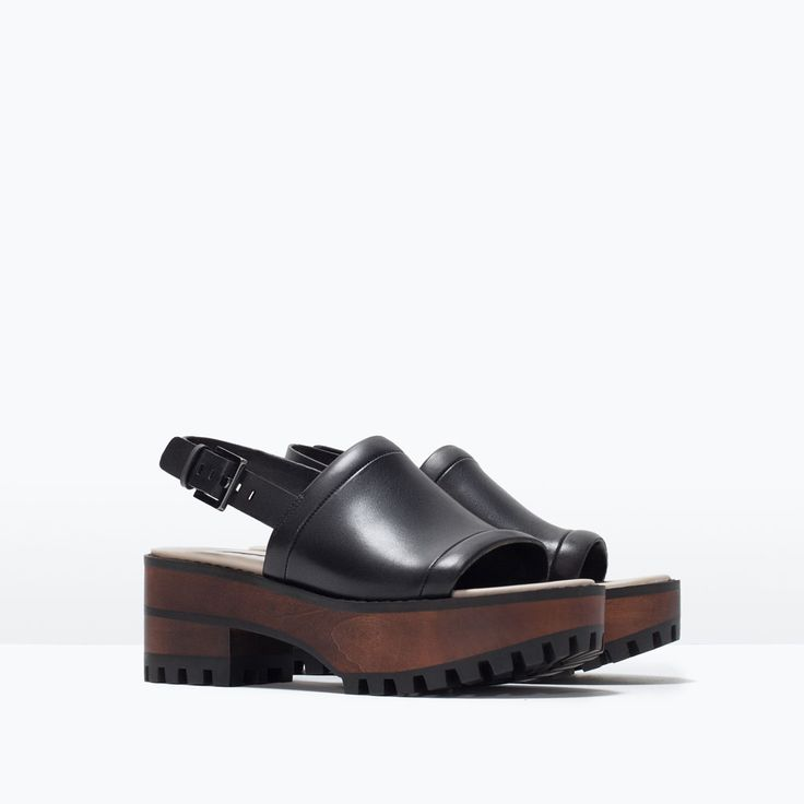 LEATHER PLATFORM SANDAL-View all-Shoes-WOMAN | ZARA United States