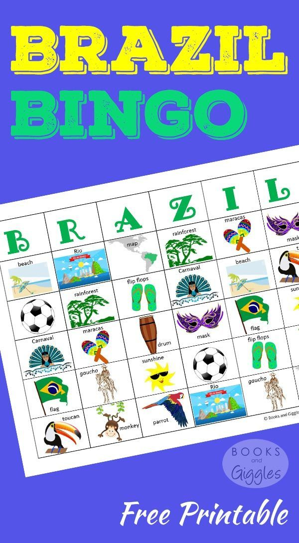 A colorful set of bingo cards and a fun game cube to learn about Brazil. Plus, some fun facts to go along with the game cards. For kids of all ages.