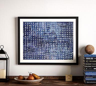 Indigo abstract framed print indigo dot 24 x 30 abstract printblue and whiteframed printsframed wallcanvas