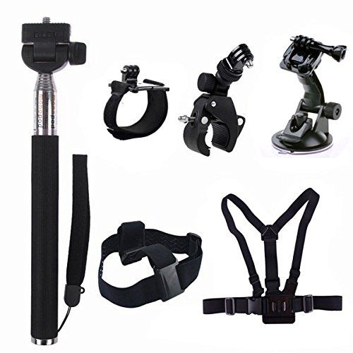 Rhodesy H16 GoPro Accessories Set Kit Chest / Head Strap +Handlebar Mount for Gopro Hero 1 2 3 3+ White Silver Black Edition - http://www.carcamerareviews.co.uk/gopro-hero4/accessories/rhodesy-h16-gopro-accessories-set-kit-chest-head-strap-handlebar-mount-for-gopro-hero-1-2-3-3-white-silver-black-edition/