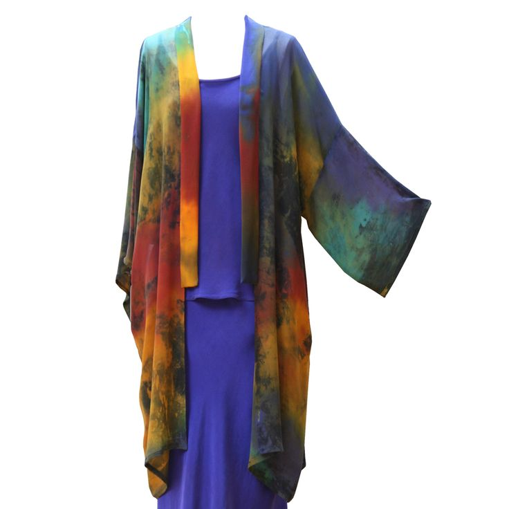 20s Coat in Rich Dark Rainbow by Charles and Patricia Lester // Blue Moon Collection