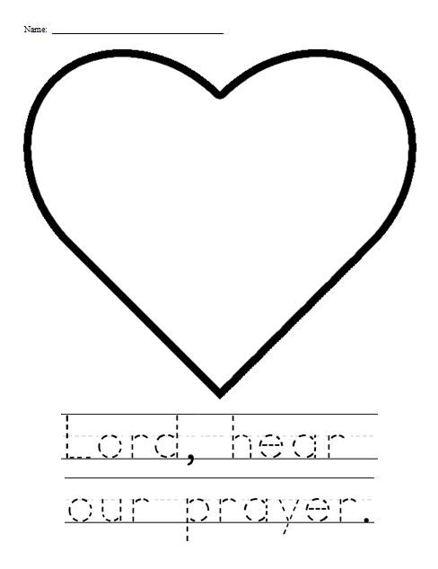 First Commandment Clip Art | Lord, hear our prayer activity sheet (for younger students)- Have the ...