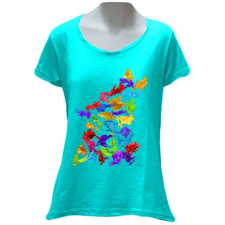 Wolfish Splash Ladies T-Shirt – WOLFISH WORKSHOP