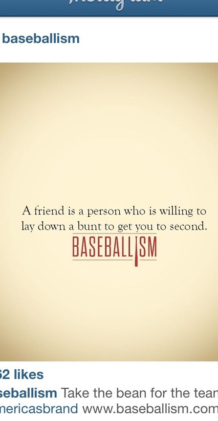 @Amanda Fleming You won't understand this, BUT you definitely bunt a lot to help me out!