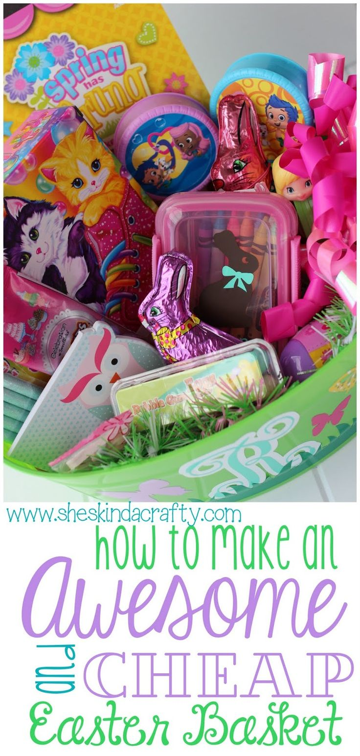 27 best creative easter basket ideas images on pinterest gift how to make an awesome and cheap easter basket negle Choice Image