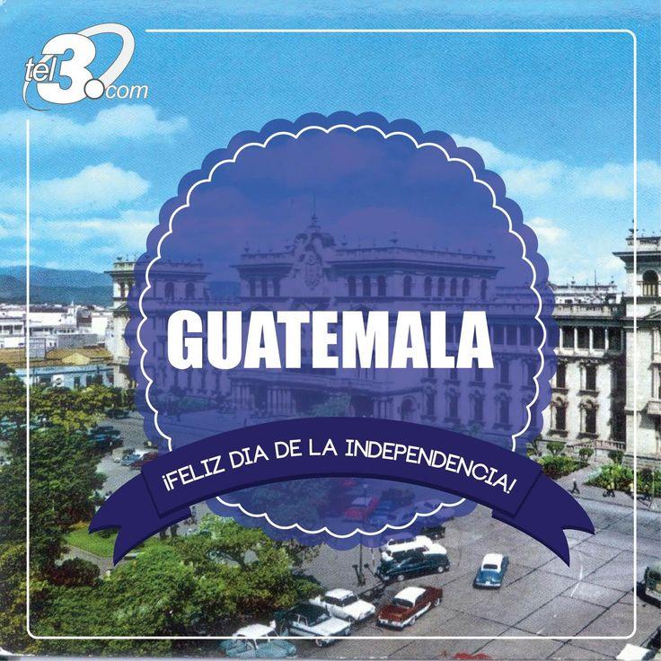#Tel3 se suma a la celebración de #Independencia de #Guatemala  La #Independencia de #Guatemala fue un acto realizado el 15 de septiembre de 1821, mediante el cual, el Reino de #Guatemala rompió los vínculos de dependencia política respecto de #España  En #Tel3 nos sumamos a esta celebración invitandoles a comunicarse con sus seres queridos en #Guatemala a través de nuestra Red a los más bajos costos, para mayor información visita nuestra página www.tel3.com