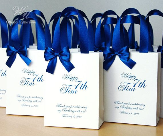 Birthday Gift Bags For Favors For Guests Thank Your Bag