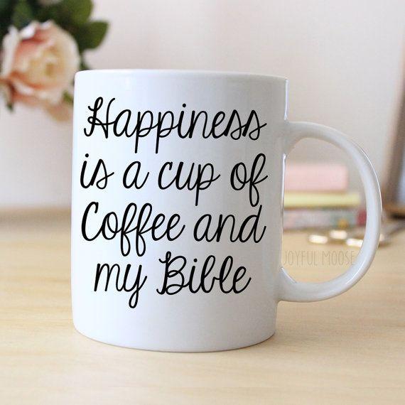 Bible Coffee Mug  Christian Coffee Mug for Her by JoyfulMoose