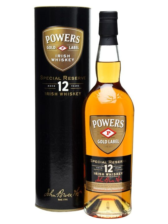 Powers Gold Label 12 Year Old Irish Whiskey /Special Reserve : Buy Online - The Whisky Exchange - An aged version of this classic Irish blend made by the Midleton distillery (home of Jameson).