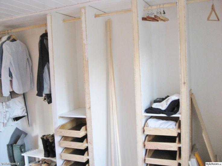 klädförvaring,hemmabygge,garderob platsbyggd