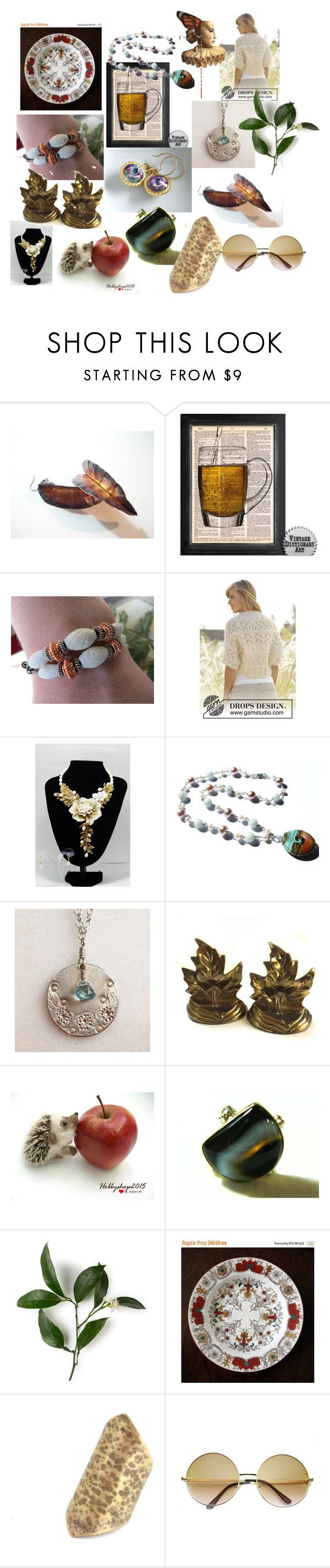 Wonderful Gifts on Etsy by anna-recycle on Polyvore featuring Cadeau, ZeroUV, modern, rustic and vintage
