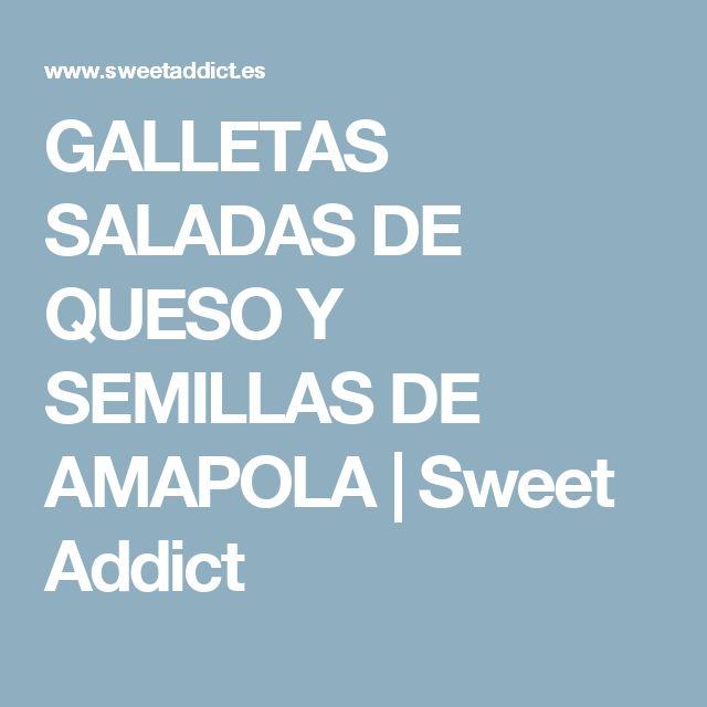 GALLETAS SALADAS DE QUESO Y SEMILLAS DE AMAPOLA | Sweet Addict