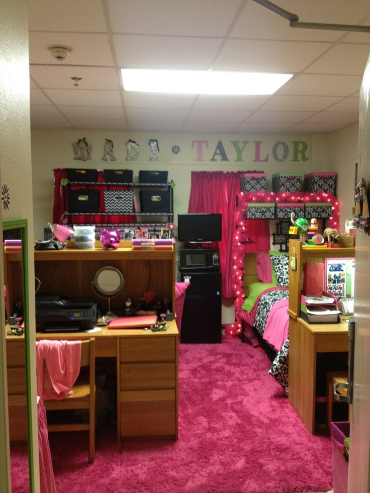 Decorating Ideas > Baylor Residence Hall Style, Circa 2012 (via @Madison  ~ 020021_Cool Double Dorm Room Ideas