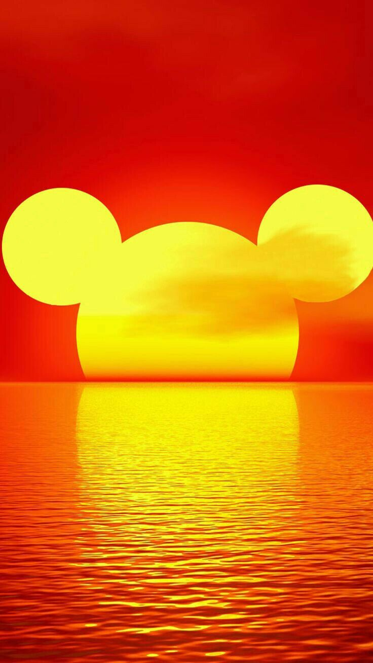 I think this loos so cool with the sunset and the mickey shape