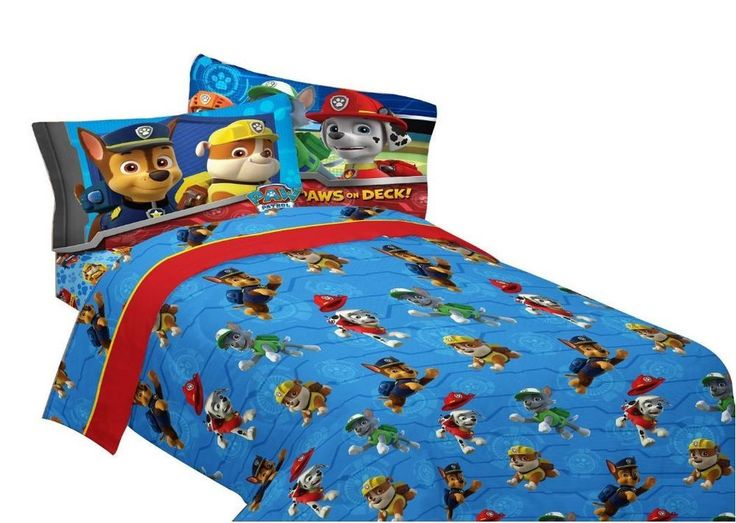 toddler bed sheets boys paw patrol rescue with pillowcase full bedding set new