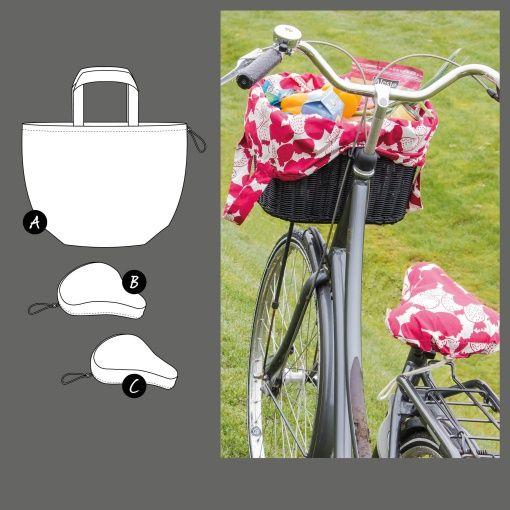 Cykelkurvtaske og sadelbetræk - STOFF & STIL