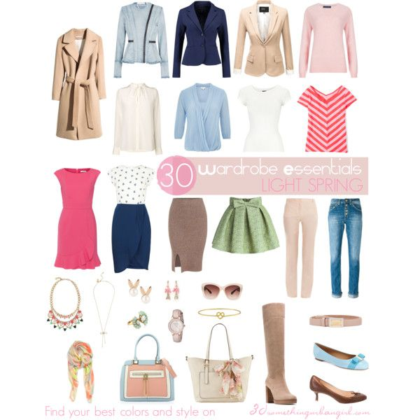 30 Wardrobe Essentials for Light Springs by thirtysomethingurbangirl on Polyvore featuring Sugarhill Boutique, Paule Ka, Boden, M&S Collection, CC, L.K.Bennett, H&M, J.TOMSON, McGregor and sass & bide