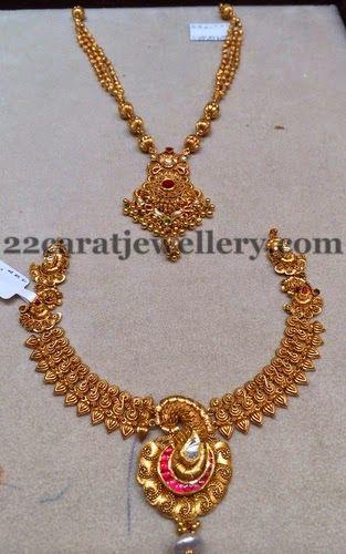 Jewellery Designs: Gold Sets by Satyanarana Jewels