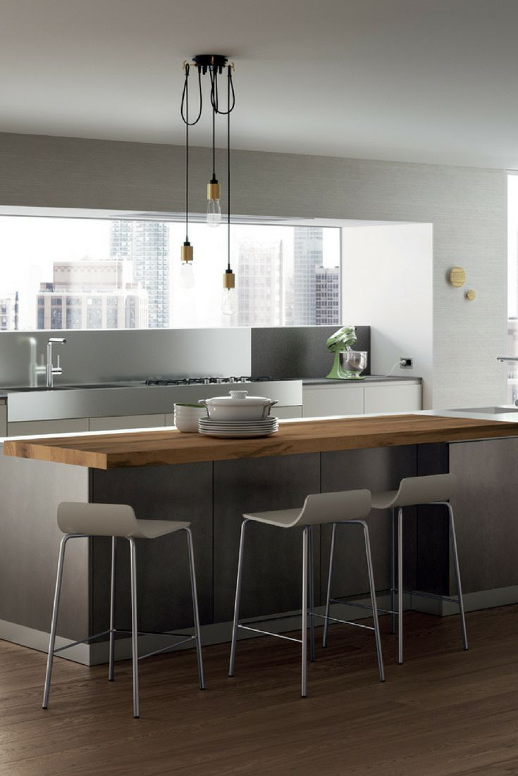 Gray Kitchen The 6 Most Beautiful Ideas And Pictures Moderne - Pinterest Küche Modern