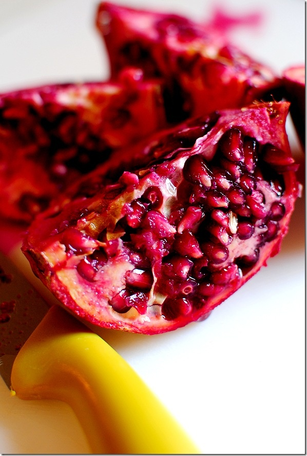 how to get pomegranate seeds out